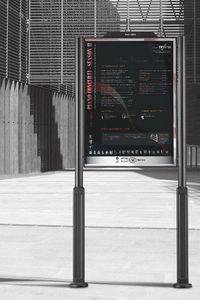 panneau d'affichage d'extérieur / en inox