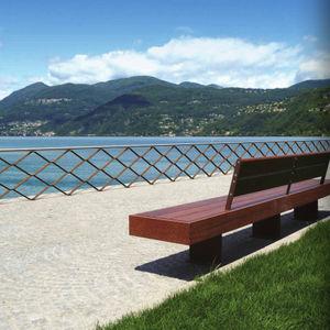barrière de protection / fixe / en inox / pour espace public