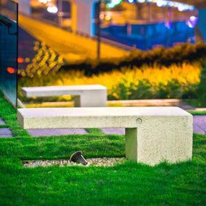 banc public / contemporain / en pierre