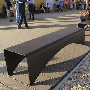 banc public / contemporain / en acier galvanisé