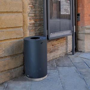 poubelle publique / en acier galvanisé / en acier COR-TEN® / contemporaine