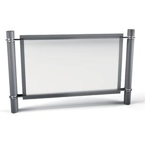 barrière de protection / fixe / en acier galvanisé / pour espace public