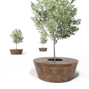 corset d'arbre en acier galvanisé / en acier COR-TEN® / avec banc public intégré