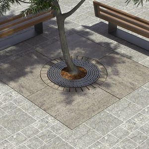 grille d'arbre ronde