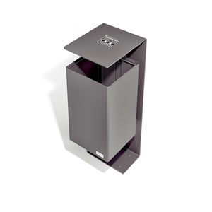 poubelle publique / en acier / avec cendrier intégré