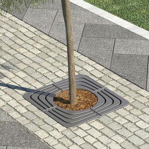 grille d'arbre en acier / en acier galvanisé / carrée