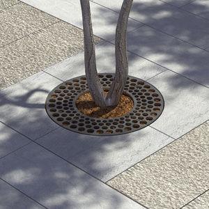 grille d'arbre en acier galvanisé / ronde