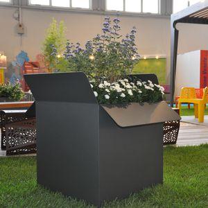 jardinière en acier galvanisé / en acier COR-TEN® / carrée / rectangulaire