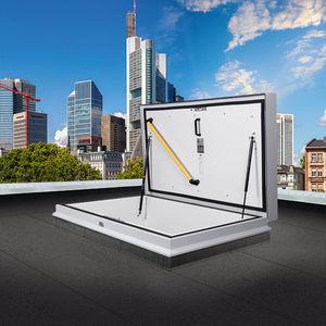 trappe de visite au toit / rectangulaire / avec échelle / à coupure thermique