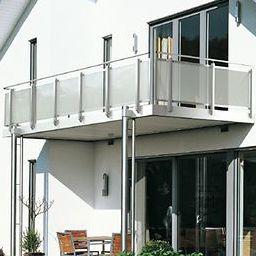 balcon à panneaux en verre / en verre