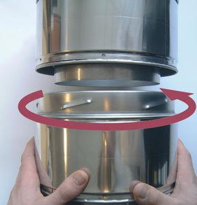 conduit de fumée en métal / en acier