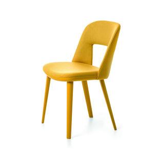 chaise contemporaine / ergonomique / en tissu / en hêtre