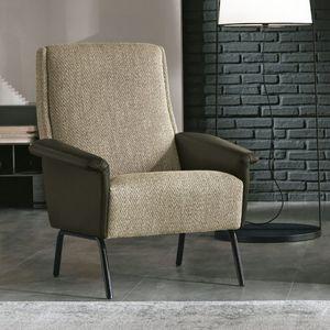 fauteuil contemporain / en tissu / en cuir / pivotant