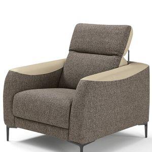 fauteuil contemporain / en tissu / en cuir / à dossier inclinable