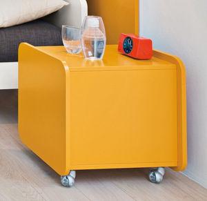 table de chevet contemporaine / en bois laqué / rectangulaire / pour enfant (unisexe)