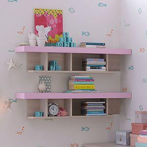 étagère murale / contemporaine / en bois laqué / pour enfant