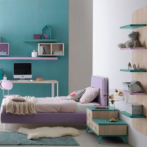 chambre d'enfant violette / en bois laqué / pour fille