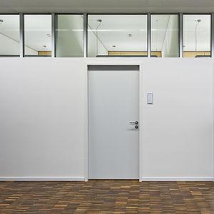 cloison fixe / en verre / en aluminium / pour open space