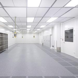 plancher technique en aluminium / ignifuge / d'intérieur / pour salle blanche
