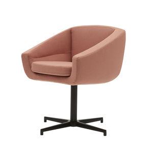 fauteuil contemporain / en tissu / en aluminium / pivotant