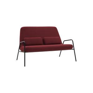 canapé compact / design scandinave / en tissu / en acier