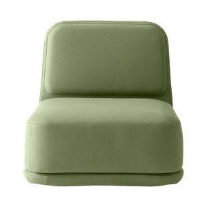 chauffeuse contemporaine / en tissu / avec revêtement amovible / couleur personnalisable