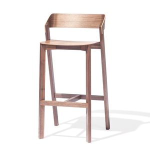 chaise de bar contemporaine / en bois massif / en chêne / en hêtre