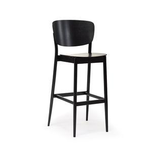 chaise de bar contemporaine / en chêne / en hêtre / de cuisine