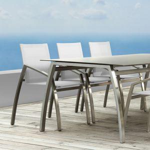 chaise de salle à manger contemporaine / avec accoudoirs / 100% recyclable / en Batyline®