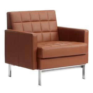 fauteuil visiteur contemporain / en tissu / en cuir / en acier