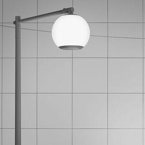 lampadaire urbain / contemporain / en fonte d'aluminium / en acrylique