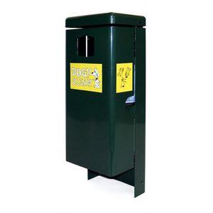 poubelle canine / en métal / pour excréments canins / avec distributeur de sacs