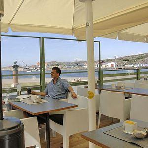 panneau pare-vent en verre / en aluminium / pour restaurant