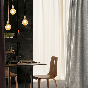 tissu pour rideaux / uni / en polyester / acoustique