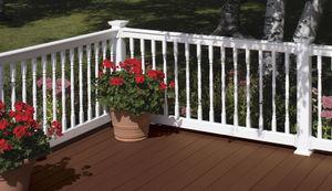 garde-corps en PVC / à barreaux / d'extérieur / pour terrasse