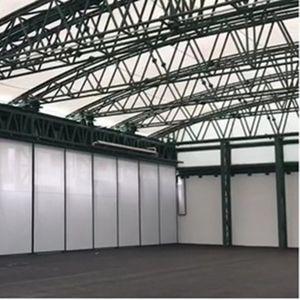 système de toiture en acier / modulaire / courbe / de profilé métallique