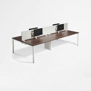 bureau pour open space / en stratifié / en métal / contemporain