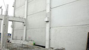 mur en béton armé / en béton préfabriqué / avec panneau modulaire / coupe-feu