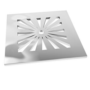 grille de siphon pour douche / en acier inoxydable