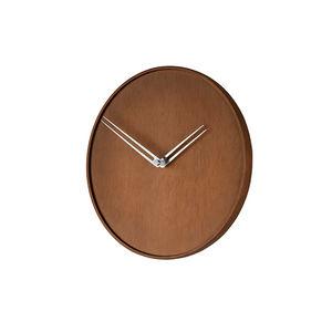 horloges contemporaines / analogiques / murales / en noyer