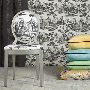 tissu d'ameublement / pour rideaux / mural / à rayures
