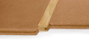 isolant thermo-acoustique / en fibre de bois / pour plancher / en panneaux