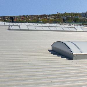 système de toiture en métal / en polycarbonate / modulaire / de profilé métallique