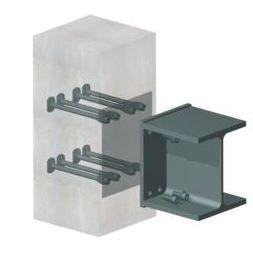 système d'ancrage en acier / pour génie civil / pour bardage de façade / pour extérieur