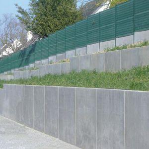 mur de soutènement en béton armé / préfabriqué / modulaire / pour clôture de jardin