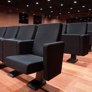 fauteuil d'auditorium contemporain / en tissu / en polyuréthane / pliant