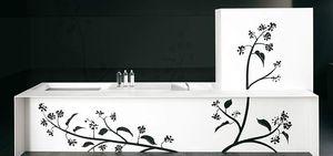panneau décoratif en Solid Surface / en bois massif / pour meuble / lisse