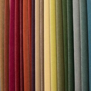 tissu pour rideaux / uni / polyester FR / en velours