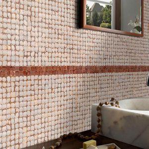 mosaïque d'intérieur / murale / en noix de coco / géométrique