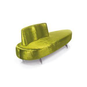canapé design original / d'accueil / en tissu / en aluminium poli